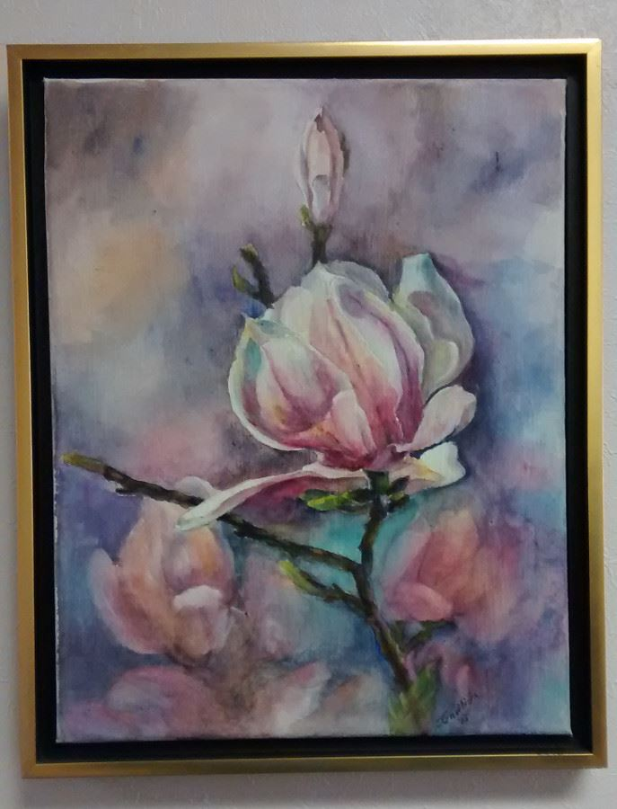 Tulip Tree Blossoms by Janet Gwilliam